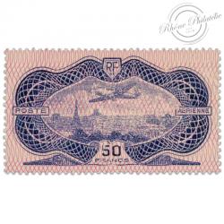FRANCE PA N°15 AVION SURVOLANT PARIS (BURELET), TIMBRE LUXE ET SIGNÉ-1936