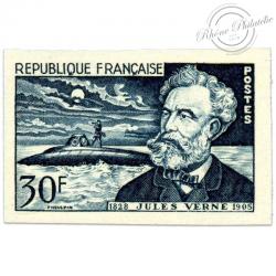 FRANCE N°1026a NON DENTELE, CINQUANTENAIRE MORT DE JULES VERNE-1955