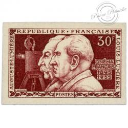 FRANCE N°1033a NON DENTELE, 60E ANNIVERSAIRE DU CINÉMATOGRAPHE-1955