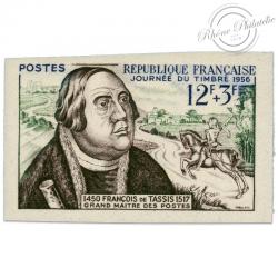 FRANCE N°1054a NON DENTELÉ, JOURNÉE DU TIMBRE-1956