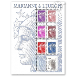 MARIANNE ET L'EUROPE, TYPE BEAUJARD, TIMBRES POSTE N°4565-4571