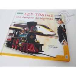"""LE LIVRE DES TIMBRES """"LES TRAINS UNE ÉPOPÉE DE LÉGENDE"""""""