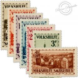 SARRE SÉRIE N°155 À 161 ŒUVRES POPULAIRES, TIMBRES NEUFS*1933