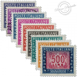ITALIE N°79 À 87, TIMBRES-TAXE **/OBL 1955-56