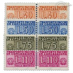 ITALIE SÉRIE N°68 À 71, TIMBRES COLIS POSTAUX NEUFS-1953