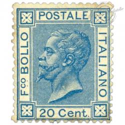 ITALIE N°23, VICTOR-EMMANUEL II, TIMBRE NEUF*1867-77