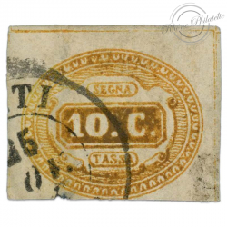 ITALIE TIMBRE-TAXE N°1, TIMBRE OBL-1863