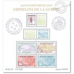 BLOC FEUILLET F5226 SALON PHILATÉLIQUE PARIS-PHILEX 2018 ORPHELINS DE LA GUERRE