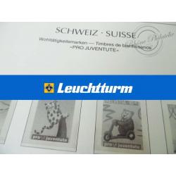 FEUILLES LEUCHTTURM 2002 pour timbres de Suisse