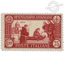 ITALIE N°277a, 7E CENTENAIRE MORT DE SAINT ANTOINE, TIMBRE NEUF*1931