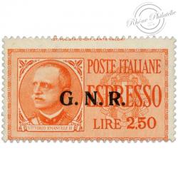 ITALIE LETTRE EXPRESS N°2, TIMBRE NEUF* PAR EXPRÈS D'ITALIE, SURCHARGE G.N.R-1944