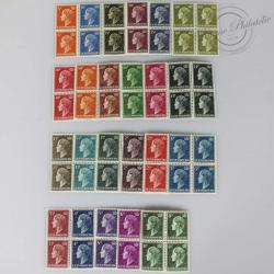 LUXEMBOURG BLOCS 413A À 424, EFFIGIE DE LA GRANDE DUCHESSE CHARLOTTE, TIMBRES NEUFS-1948-53