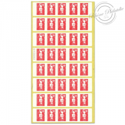 CARNETS TIMBRES N°2874-c4 MARIANNE ROUGE DE BRIAT, AUTOADHESIFS POUR 40 LETTRES 20G