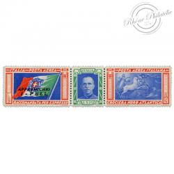 ITALIE PA N°48 TRIPTYQUES DE LA CROISÈRE TRANSATLANTIQUE, TIMBRE NEUF*1933