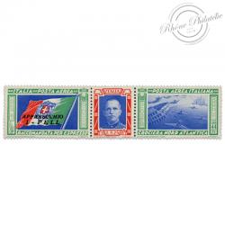 ITALIE PA N°49 TRIPTYQUES DE LA CROISÈRE TRANSATLANTIQUE, TIMBRE NEUF*1933