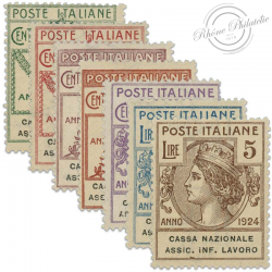 ITALIE CASA NAZIONALE ASSIC.INFORTUNI LAVARO, TIMBRES NEUFS*1924