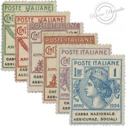 ITALIE CASA NAZIONALE ASSICURAZIONI SOCIALI, TIMBRES NEUFS*1924