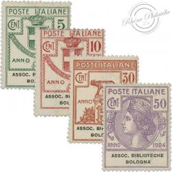 ITALIE ASSOCIAZIONE BIBLIOTECHE BOLOGNA, TIMBRES NEUFS*1924