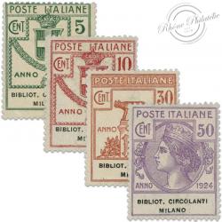 ITALIE BIBLIOTECHE CIRCOLANTI MILANO, TIMBRES NEUFS*1924