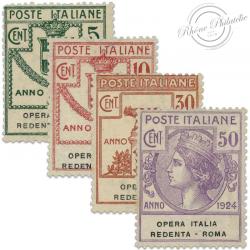ITALIE OPERA ITALIA REDENTA, TIMBRES NEUFS*1924