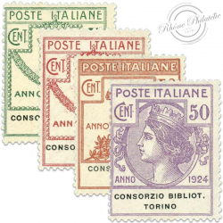 ITALIE CONSORZIO BIBLIOTECHE TORINO, TIMBRES NEUFS-1924