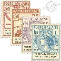 ITALIE FEDERAZIONE ITALIANA BIBLIOTECHE POPOLARI, TIMBRES NEUFS*1924