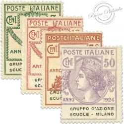 ITALIE GRUPPO AZIONE SCUOLE MILANO, TIMBRES NEUFS*1924