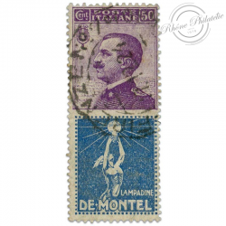 """ITALIE TIMBRE PUBLICITAIRE """"DE MONTEL"""", TIMBRE OBL-1924"""