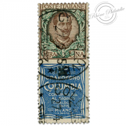 """ITALIE TIMBRE PUBLICITAIRE """"COLUMBA"""", TIMBRE OBL-1924"""