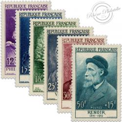 FRANCE N°1027 À 1032, CÉLÉBRITÉS XII-XX SCIÈCLE, TIMBRES NEUFS**1955