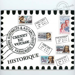 TAAF N° C418 CARNET DE VOYAGE HISTORIQUE EDITION PRESTIGE, 2005