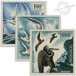 MONACO POSTE AÉRIENNE N°66 À 68, SÉRIE DES OISEAUX, TIMBRES NEUFS**/* DE 1957