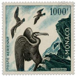 MONACO POSTE AÉRIENNE N°68, CORMORANS, TIMBRE NEUF DE 1957
