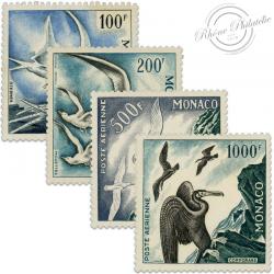 MONACO POSTE AÉRIENNE N°55 À 58 TIMBRES NEUFS DE 1955