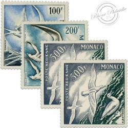 MONACO POSTE AÉRIENNE N°55 À 57 (N°57 en double), TIMBRES NEUFS DE 1955