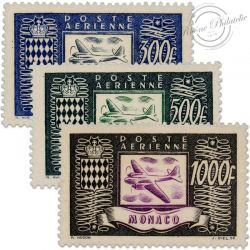 MONACO POSTE AERIENNE N°42 À 44, TIMBRES NEUFS**LUXE-1949