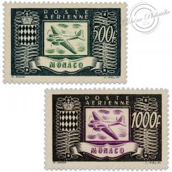 MONACO POSTE AERIENNE N°43 À 44, TIMBRES NEUFS-1949