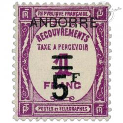 ANDORRE FRANÇAIS TAXE N°15, TIMBRE NEUF*1931-32