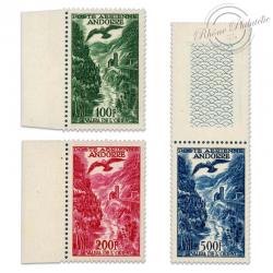 ANDORRE FRANÇAIS PA N°2 À 4, PAYSAGE, TIMBRES NEUFS**LUXE-1955-57