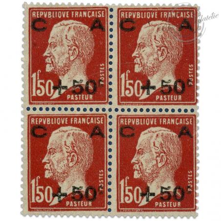 FRANCE BLOCS DE 4 TIMBRES N°255 CAISSE D'AMORTISSEMENT, TIMBRES NEUFS-1929