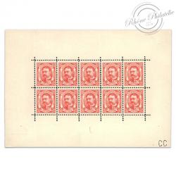 LUXEMBOURG BLOC N°74, EFFIGIE DE GUILLAUME IV, BLOC DE 10 TIMBRES NEUFS-1906-15
