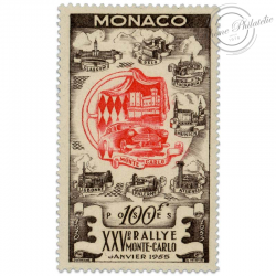 MONACO N°420, 25E RALLYE AUTOMOBILE DE MONTE-CARLO, TIMBRE NEUF-1955