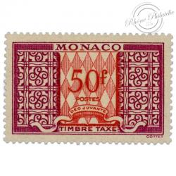 MONACO TAXE N°38A , TIMBRE TAXE NEUF DE 1946-57
