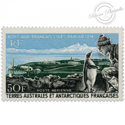 TAAF POSTE AERIENNE N°14, PORT-AUX-FRANCAIS, TIMBRE NEUF**LUXE-1968