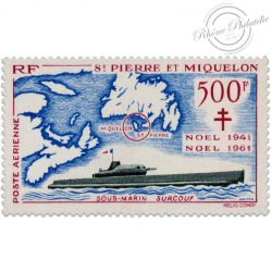 SAINT-PIERRE-ET-MIQUELON POSTE AÉRIENNE N°28, TIMBRE NEUF-1962