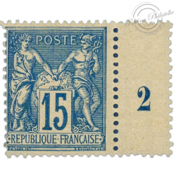 FRANCE N°90 TYPE SAGE MILLÉSIME II, TIMBRE NEUF DE 1878