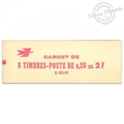 FRANCE CARNET 1331-C3a TYPE COQ DE DECARIS, TIMBRES POSTE-1962-65