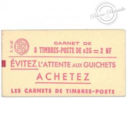 FRANCE CARNET N°1234-C 1, TYPE MARIANNE DE À LA NEF, TIMBRES NEUFS