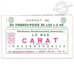 FRANCE CARNET N°1263-C 3, TYPE MARIANNE DE DECARIS, 20 TIMBRES NEUFS