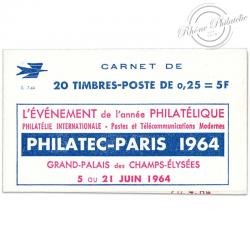 FRANCE CARNET N°1263-C 4, TYPE MARIANNE DE DECARIS, TIMBRES NEUFS, PUB PHILATEC